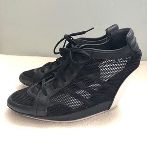 5b6f167335 adidas Shoes - Adidas Slvr Clima Black Mesa Wedge Heel Sz 9.5